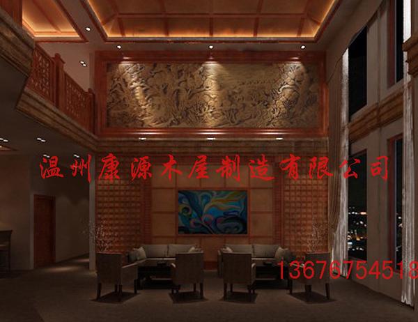 黄官岛会所大厅茶吧效果图